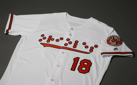 Baltimore Orioles introduce braille uniforms honoring the blind